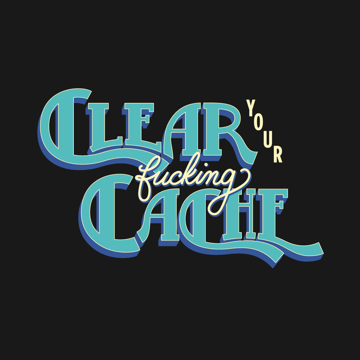 Clear Your Fucking Cache womens shirt