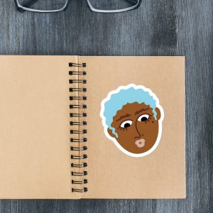 Lady Head Dinah sticker