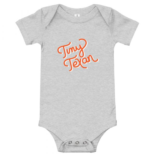 Tiny Texan Onesie Athletic Heather