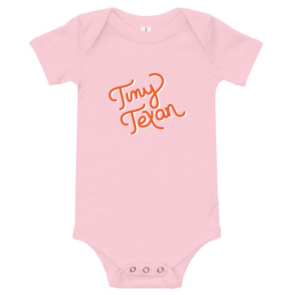 Tiny Texan Onesie Pink