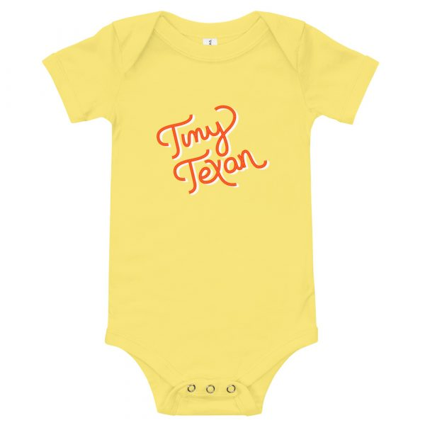 Tiny Texan Onesie Yellow
